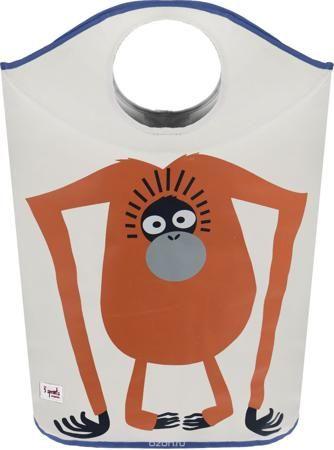 """3 Sprouts Корзина для белья Орангутан  — 2199р. ---------------- Корзина для хранения 3 Sprouts """"Орангутан"""" поможет вам навести порядок в детской. Кажется, что грязное бельё завоёвывает комнату вашего ребёнка? Корзина для белья от 3 Sprouts - идеальное решение. Размер корзины позволяет хранить в ней игрушки, книжки или белье. Две огромные ручки складываются, образуя удобное отверстие, в которое можно складывать бельё. А когда нужно вынуть содержимое - вытяните ручки и с легкостью освободите…"""
