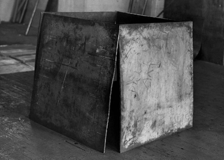 "istmos: ""Richard Serra, One Ton Prop (House of Cards), 1969 (ph. by Peter Moore) """