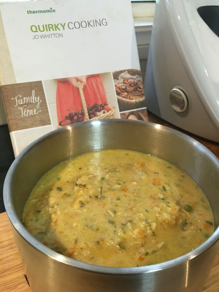 Quirky Cookings Chicken & Brown Rice Soup (gf) cooked for 40 minutes whilst…