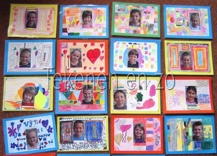 Door leerlingen van groep 4  Benodigdheden: wit tekenpapier kleurpotloden of viltstiften foto's van de leerlingen lamineervellen plaksel Le...