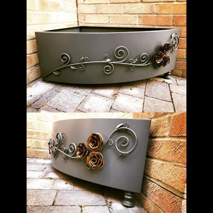 #metalwork #garden #bespoke #bespokemetalwork #copperrose #copper #welding #handmade #forged #sheetmetal
