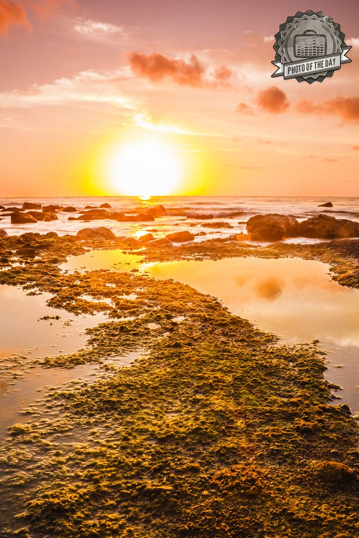 """Sunset in Menganti Beach, Kebumen, Indonesia. This photo uploaded by Amri Husen is """"Burufly's Photo of The Day """". Upload your photos from all around Indonesia to our site and prepare to be the next!"""