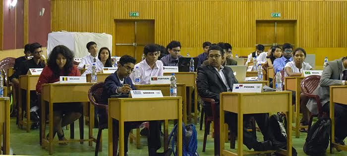 hey were divided into the General Assembly for Social, Humanitarian and Cultural Affairs which was chaired by Abhiraj Goswami, United States House Committee on Foreign Affairs which was presided over by Suvayan Sengupta, United Nations Conference on Nuclear Disarmament which was over seen  by Adrija Ghosh, United Nations Security Council chaired by Rahul Das and the International Press Corps which was headed by Satvik Sethia