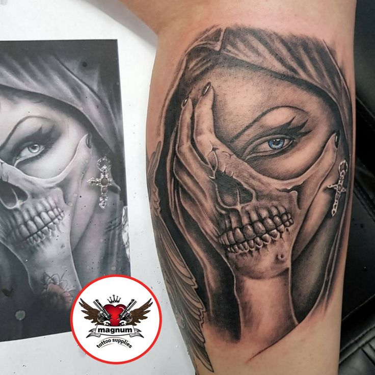 Sick side #calf piece from Tattoos by Gavin Underhill using #magnumtattoosupplies