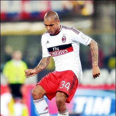 "Nigel de Jong (born 30 November 1984) is a Dutch professional footballer who plays as a midfielder for Italian Serie A club Milan and the Netherlands national football team.   A tireless grafter, he has garnered a reputation of being a combative and feisty player in his performances, a reputation that has earned him nicknames such as ''""The Terrier""'' and ''""Lawnmower""''. He moved to Italian side Milan in August 2012."