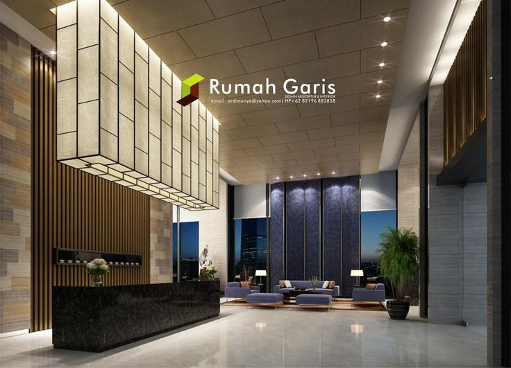 lobby modern minimalis jasa render arsitektur dan interior