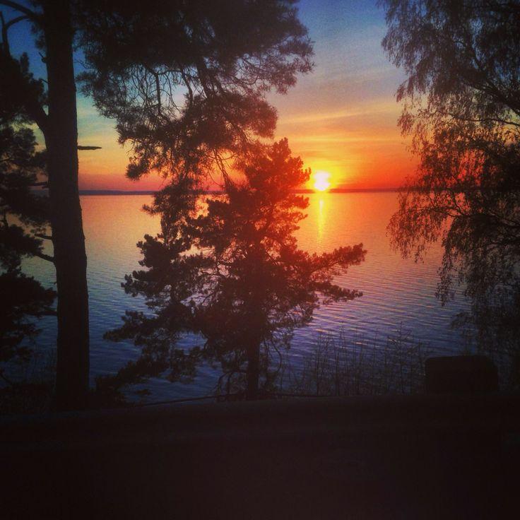 Solnedgång över Vättern