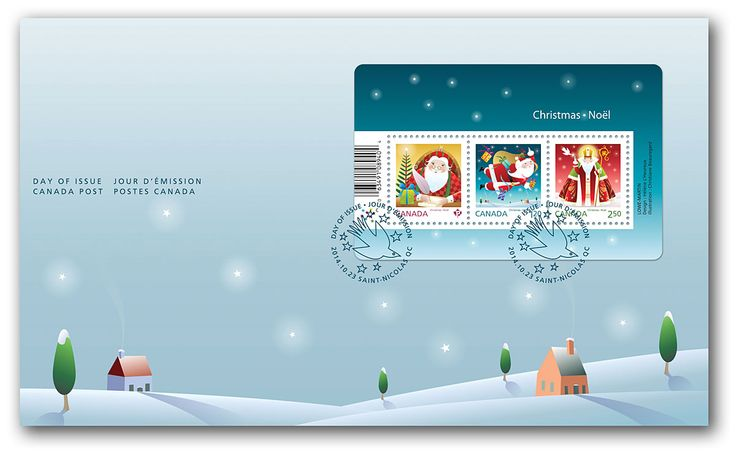 Canada Post - Santa - Souvenir sheet Official First Day Cover - Stamps by theme