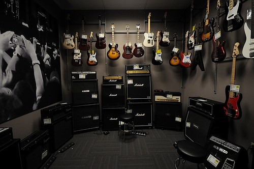 Guitar Room Closet (the items you don't want hanging out in view in his room) So organized