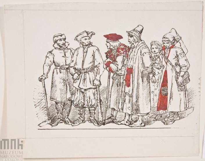 """""""Ubiory w Polsce 1200-1795""""- karta bez tytułu"""