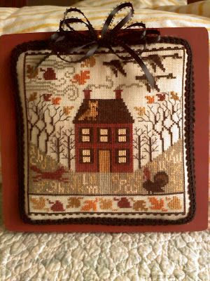 "From ""November"" by Prairie Schooler: Craft, Crossstitch, Thread, Autumn Cross Stitch, Needle, Cross Stitches, September 2010, Embroidery"