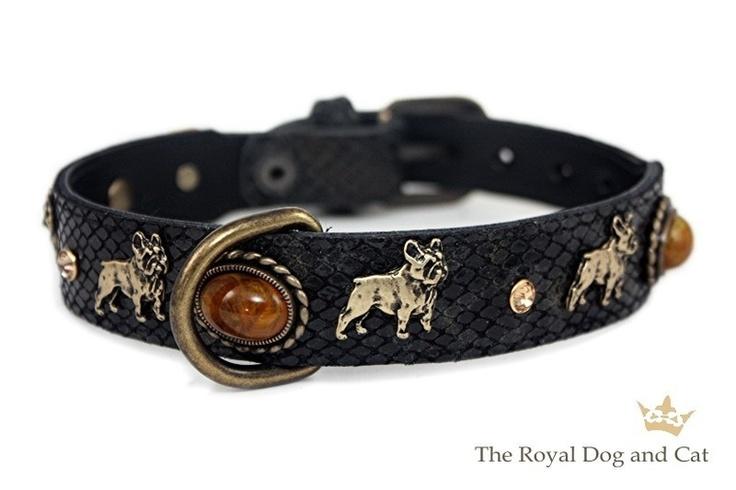 Royal Dog French Bulldog collar http://www.puppytoys.nl/Webwinkel-Product-13009418/Royal-Dog-Franse-Bulldog-halsband-zwart.html