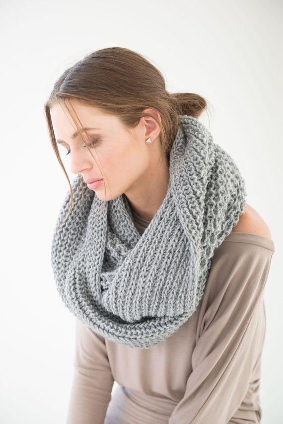 NEW Wool Scarf / Infinity Scarf / Chunky Knit Scarf / Shawl / Loop Scarf / Stocking Stuffer / Perfect Gift / Hat / marcellamoda - MA402