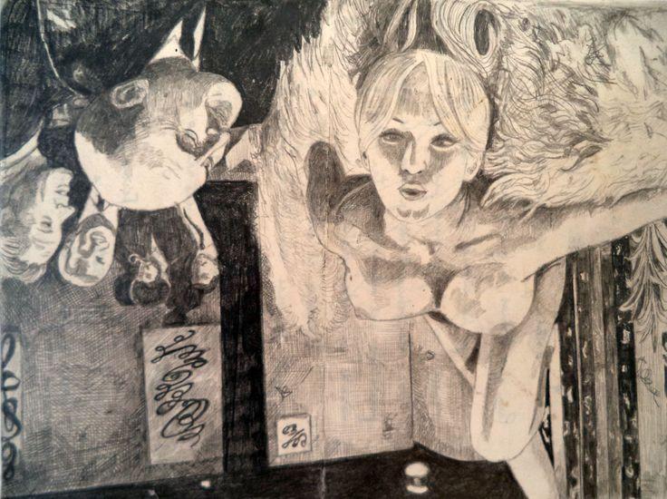 foule sentimentale, pencil on paper, 15 x 20 cm, jan schmelcher 2015