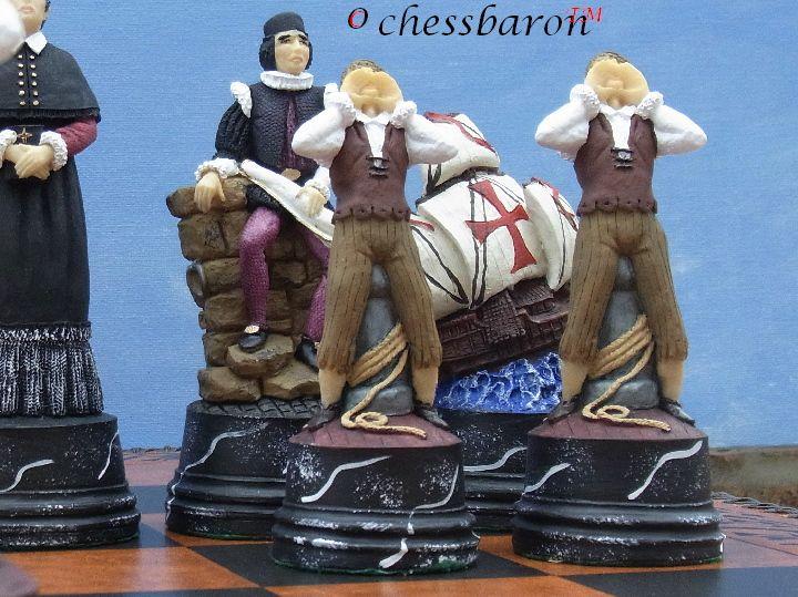 Christopher Columbus Chess Set