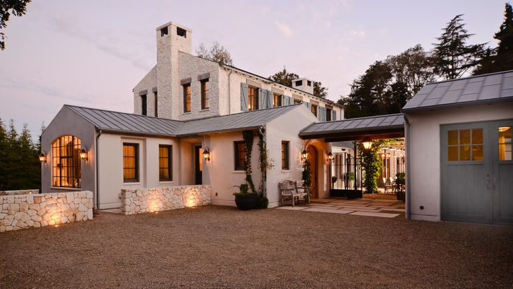 He wanted contemporary, she wanted a rustic French farmhouse. The house is clearly more the latter than the former, but the detailing and programing subtly nudge towards the former. Rather than separating the home into formal Living / Dining / Kitchen rooms, the family comes together in a modern and causal way in a single …