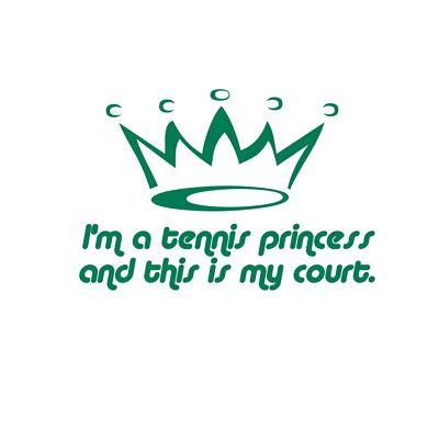 Forget the glass slippers, this princess wears tennis shoes ;)