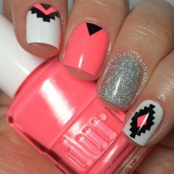 The 25 best girls nail designs ideas on pinterest girls nails beautiful aztec nail art designs for young girls 5 prinsesfo Choice Image