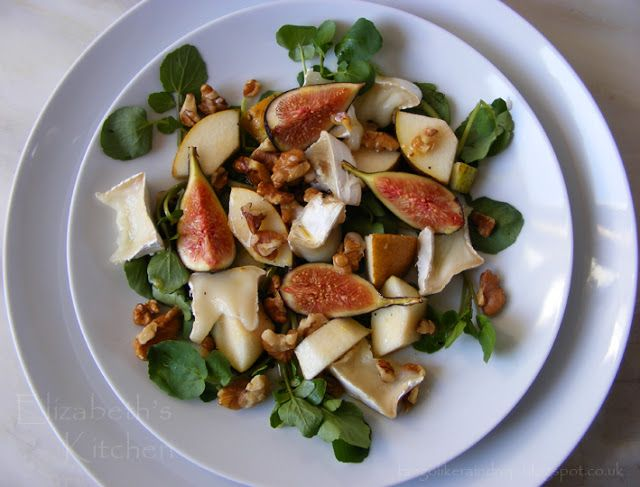 ... Kitchen Diary: Fresh Fig, Goats Cheese, Pear & Walnut Salad