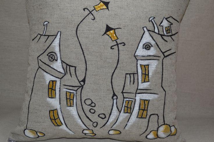 размер - 35*35см лен, хлопок,холлофавайбер, акриловые краски по ткани. Бережная стирка. ручная роспись  https://www.facebook.com/nyashechki