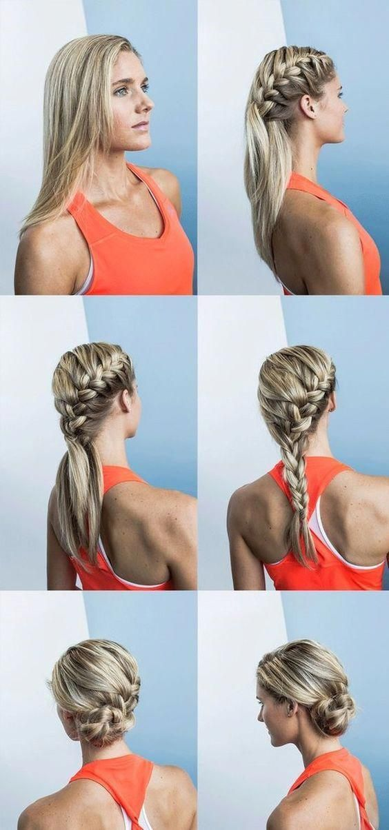 Simple Easy Hair Styles Easyhairstylesforwork Hair Styles Long Hair Styles Gym Hairstyles