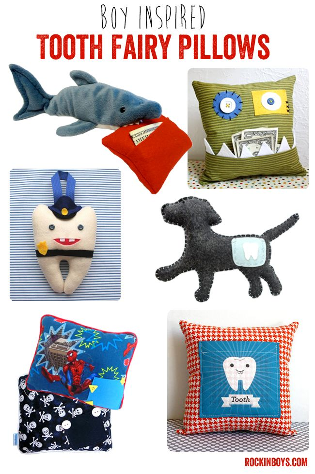 Rockin' Tooth Fairy Pillows for Boys - Rockin Boys Club