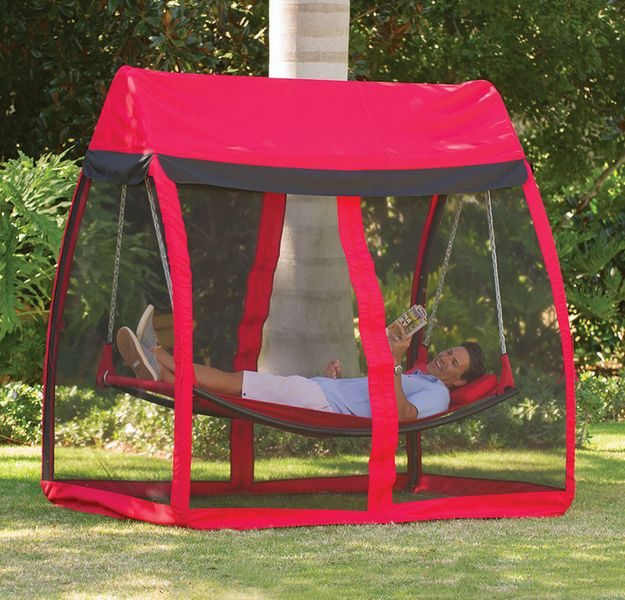 The Mosquito Thwarting Hammock. Nap in peace.