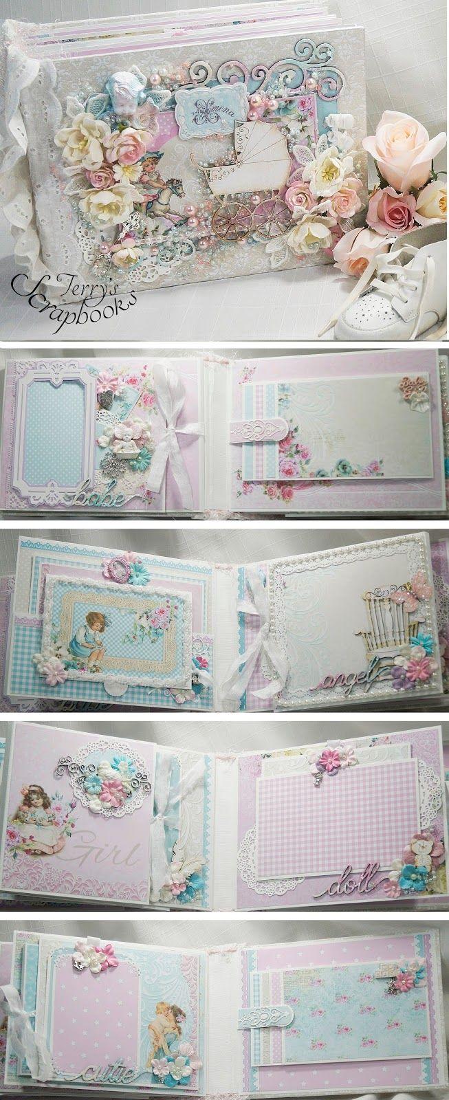 Scrapbook paper books - Lemoncraft Tiny Miracles Baby Girl Album