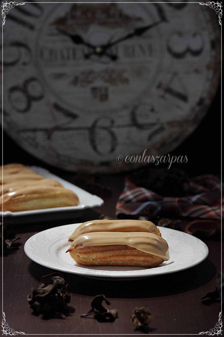 Eclairs de café {by Paula, Con las Zarpas en la Masa}