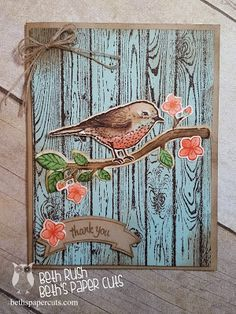 Best Birds Stamp set from Stampin' Up! Beth's Paper Cuts                                                                                                                                                     More