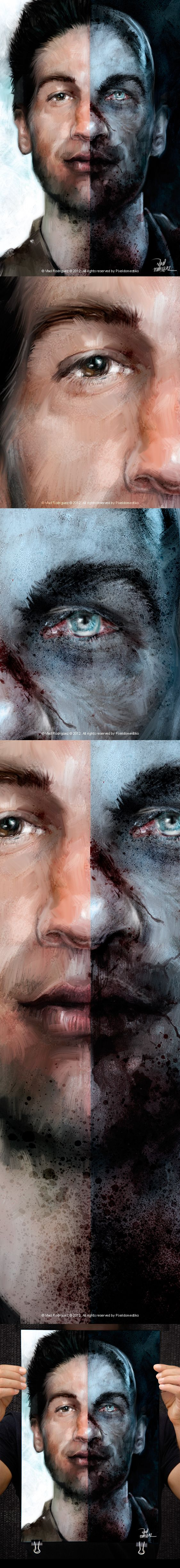 The Walking dead! with Shane Walsh by Vlad Rodriguez, via Behance