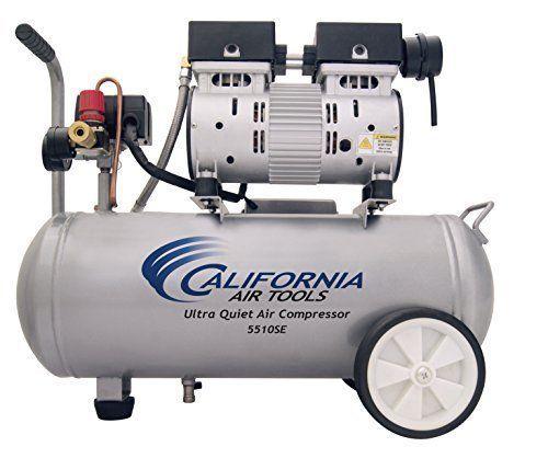 Air Compressor Tools Ultra Quiet Oil Free 1.0 HP 5.5 Gal. 60 Decibels Steel Tank #CaliforniaAirTools