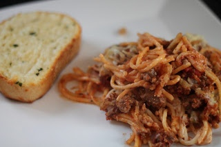 Scooter Spaghetti -- delicious & filling! The perfect comfort food for a chilly evening :)