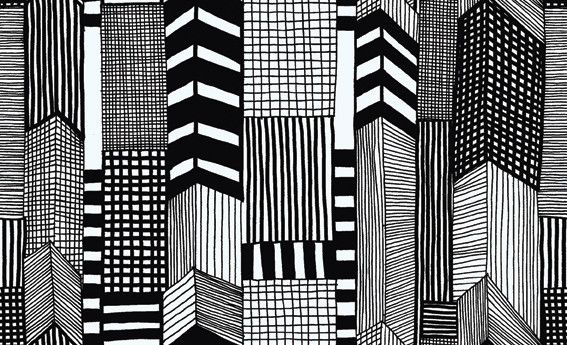 @kiitosmarimekko: A Marimekko Entry - The Reveal. Available at http://kiitosmarimekko.com/products/ruutukaava-wallpaper-black-white