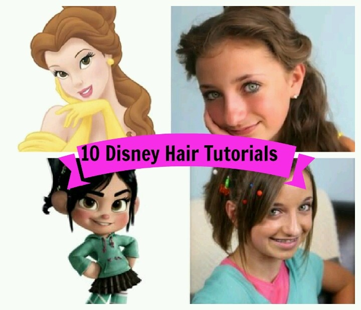Disney Hair Tutorials on Cute Girl's Hairstyles. Perfect website and videos for all hairstyles.