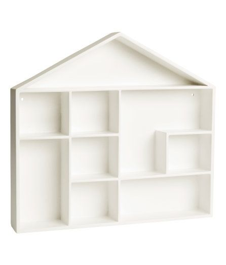 Check this out! House-shaped shelf in painted MDF (medium-density fiberboard) with pre-drilled holes for mounting. Screws not included. Width 12 1/2 in., height 12 1/2 in., depth 2 in. - Visit hm.com to see more.