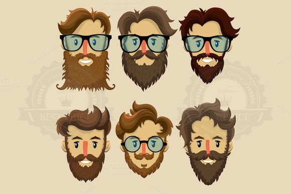 Hipster characters, subculture by Yayasya on Creative Market