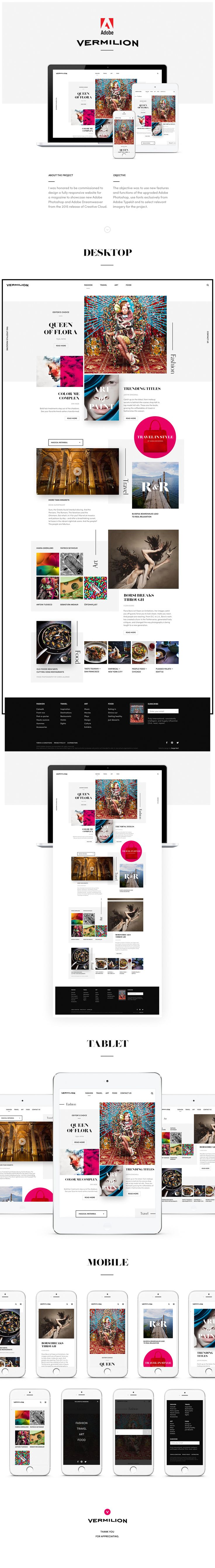 Official Showcase Website for Adobe on Behance