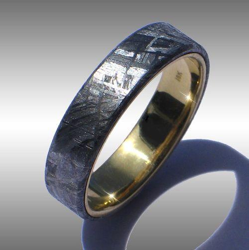 Best  best men wedding band images on Pinterest Meteorite ring Meteorite wedding band and Rings
