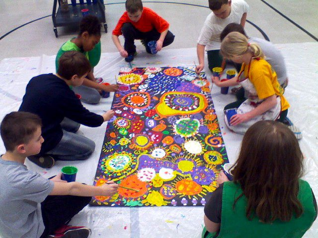 Why I Love Art: CIRCLE PAINTING! ART FOR ALL, ALL FOR ART!