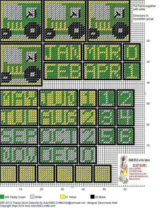 John Deere cube calendar