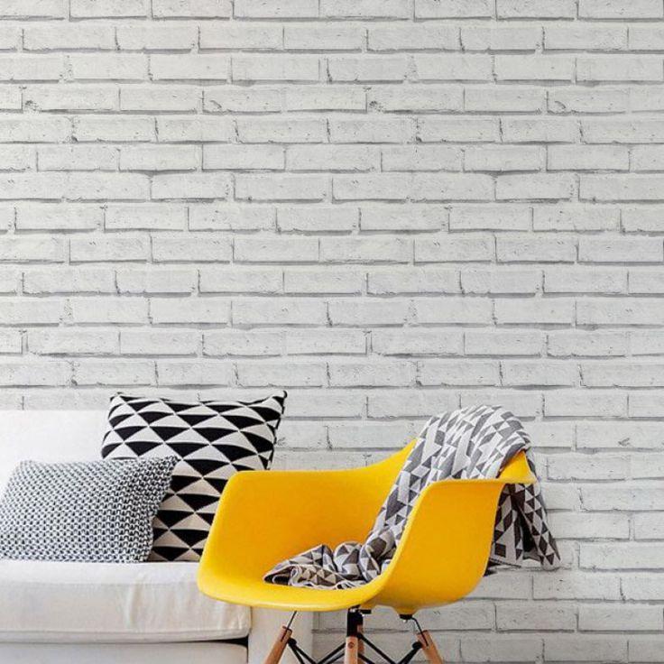 25+ best ideas about Papel De Parede Tijolo on Pinterest  ~ Quarto Tijolo Branco