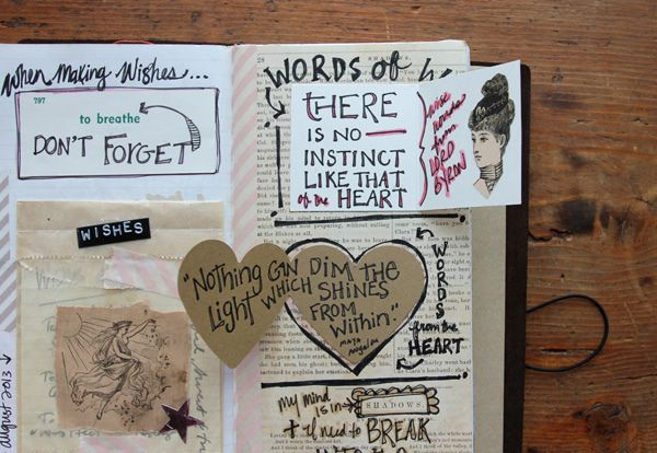 Besottment Traveler's Notebook Art Journal by Paper Relics (Hope W. Karney), via Flickr