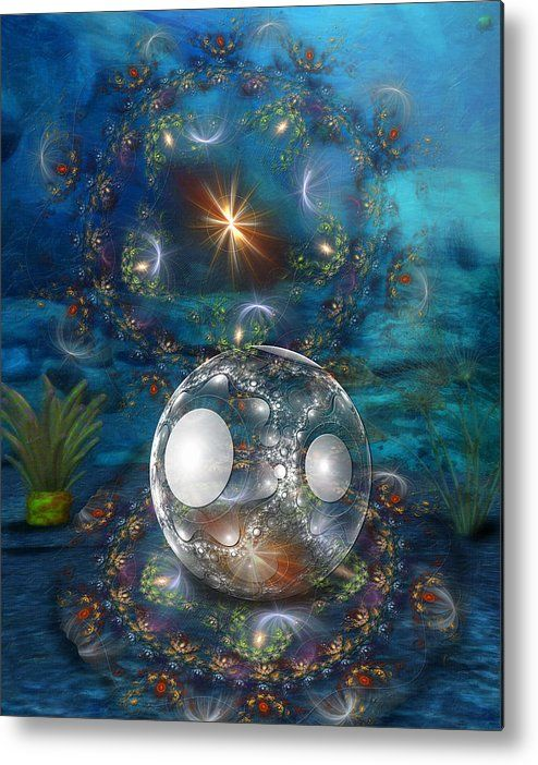 Oyster Bed Metal Print featuring the digital art Oyster Bed 3d by Sharon and…