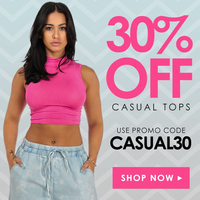 Just because it's Friday we are  treating you with 30% OFF All Casual Tops!! Oh Yeah!  Shop Now: http://www.modaxpressonline.com/Casual-Tops-c73.htm  #TGIF #Sale #CasualTops #Fashion #Trends #Style #Deals #Tops #CuteTops #CropTop #Weekend #Stylish #Shop #OnlineShopping #ShopOnline #Treat #ModaXpress