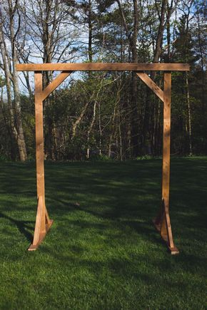 The skeleton of our DIY wedding arbor! Follow us for more DIY!