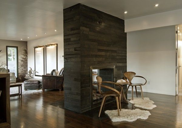 love the fireplace divider