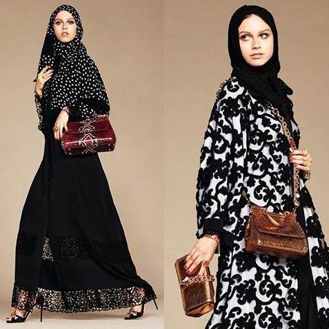 Dolce & Gabbana se ha convertido en una de las primeras firmas de ropa de lujo recientemente abierta al mercado musulmán con una colección de elegantes hiyabs y abayas. La marca italiana ha sido noticia por su iniciativa después de que el diseñador Stefano Gabbana publicará una serie de fotos de la nueva