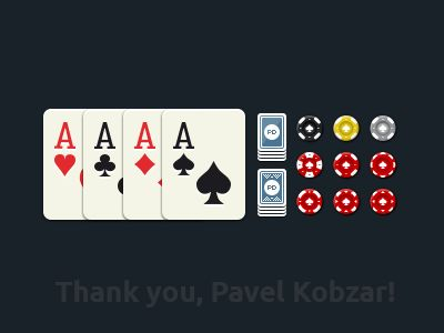 Some Poker Game graphics by Simon Kulkov