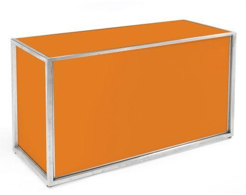 Orange plexi 6' bar - interior shelf included - CFRentals.com - Contemporary Furniture Rentals::: Showroom